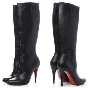 ✨$1,085✨Christian Louboutin Black Boot Heels